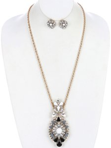 Shourouk Necklace and Earring Set - Silver