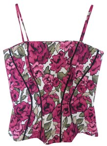 White House | Black Market Floral Bustier Top Pink