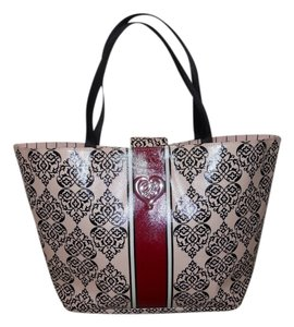 Brighton Tote in pink, red, black & white