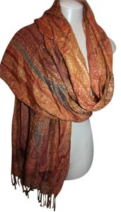 Other NEW WITH TAG ORANGE, BROWN GOLD PASHMINA STYLE