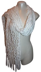 Other NEW WITHOUT TAG WHITE FRINGE SCARF