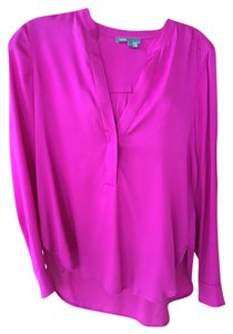 Vince Silk Top Fuschia pink