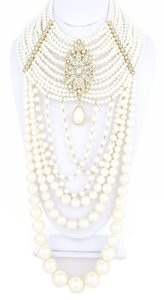Beautiful MultiStrand Draped Pearl Necklace