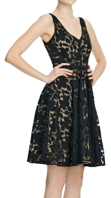 Preload https://item4.tradesy.com/images/zac-posen-blackmocha-fit-and-flare-lace-knee-length-cocktail-dress-size-6-s-970858-0-0.jpg?width=400&height=650
