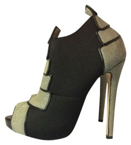 Chrissie Morris Grey/Black Platforms
