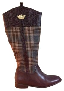 Dee Ocleppo plaid/brown leather Boots