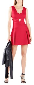 BCBGMAXAZRIA Bcbg Cutout Cross Bodice Valentine Red Dress