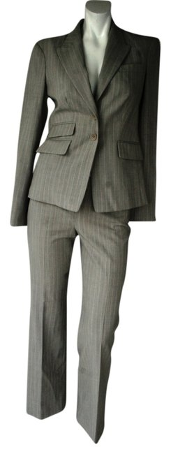 Item - Grey/Pink Pinstripe Body By Pant Suit Size 2 (XS)
