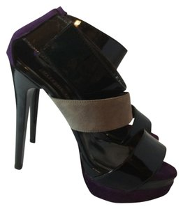 Ruthie Davis Purple/Grey/Black Platforms