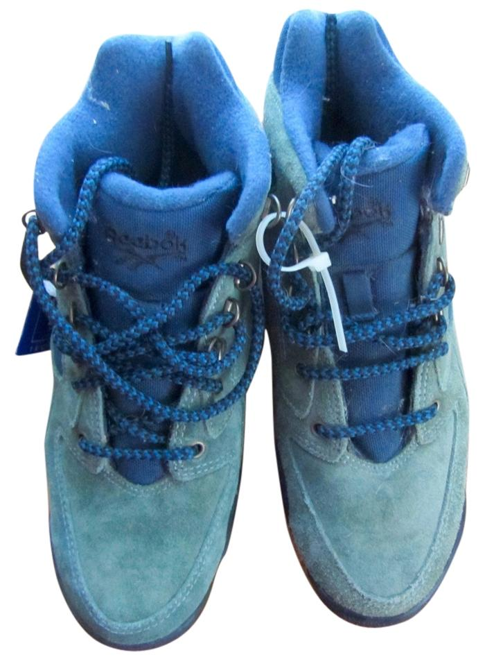 Reebok Green Leather - Blue Contrast New Outdoor Steel Shank Hexalite Suede Hiking  Boots Booties 3b757766c
