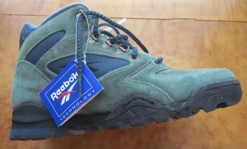 Reebok Hiking Work Uppers Steel Shank Green leather - blue contrast Boots  Image 5. 123456 90f173ccd