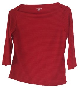 Arden B. T Shirt Red with small black stripe