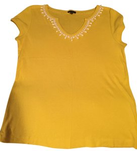 Talbots Top Sunflower yellow