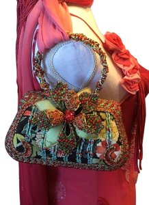 Mary Frances Beaded Wristlet in Red, blue, green, black, white, etc.