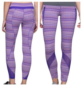 Lululemon New With Tags Lululemon Inspire Tights II sz 4 Purple Striped