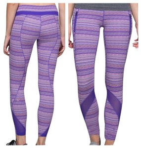 Lululemon New With Tags Lululemon Inspire Tights II sz 4 Purple Stripes