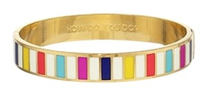 Kate Spade Perfectly Friendly Stripes! Kate Spade How Do You Do Idiom Hinged Bracelet! NWT So Perfect!