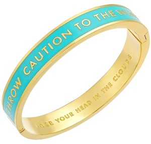 Kate Spade Lose Your Head in the Clouds! Kate Spade Throw Caution to the Wind Idiom Hinged Bracelet! Dreamy & Subversive Chic!