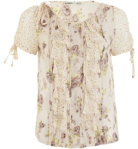 Rodarte Floral Silk Top