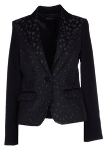 Marc by Marc Jacobs Black Leopard Blazer