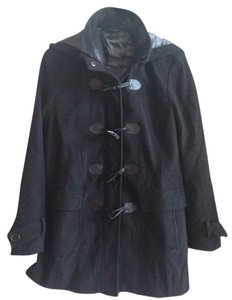 George Toggle Winter Funnel Neck Hooded Pea Coat