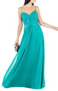 BCBGMAXAZRIA Lace Gown Wedding Blue Dress