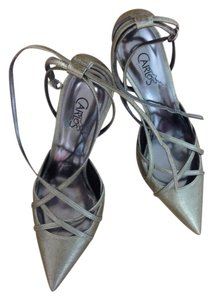 Carlos by Carlos Santana Pewter Gold Pumps