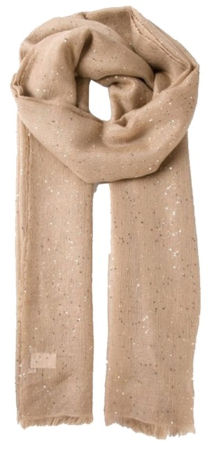 Item - Beige Sequin Embellished New with Tags Scarf/Wrap