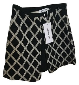 Elizabeth and James Mini Skirt Black/ beige