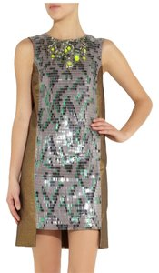 Matthew Williamson Embellished Dryclean Only Crystal Sequin Designer Dress