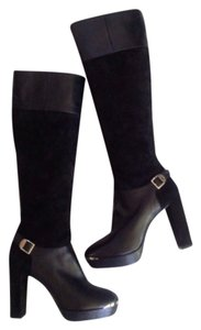 Versace Leather Blac Boots