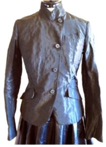 AllSaints Nwot All Italian Cloth Spring Coat Chic Glam Greyish Black Irridescent Jacket