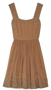 SUNO Corduroy Embellished Crystal Dryclean Only Dress