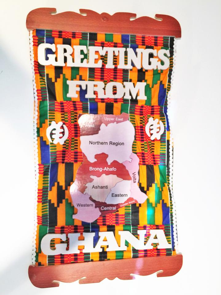 Greetings from ghana wall hanging sistersoul closet tradesy 123456 m4hsunfo