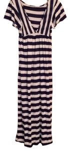 Navy and white Maxi Dress by Me mancii