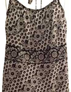 Ann Taylor LOFT short dress Black & White Print on Tradesy
