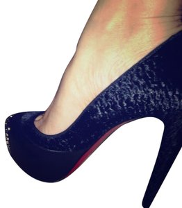 Christian Louboutin Black with silver detail Pumps
