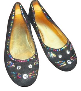 Marc by Marc Jacobs Black Velvet Mouse with Rhinestones Flats