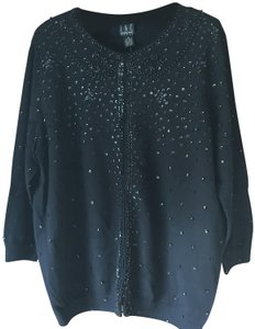 INC International Concepts Plus-size Hand Beaded Dressy New With Tags Hook/Eye Close Cardigan