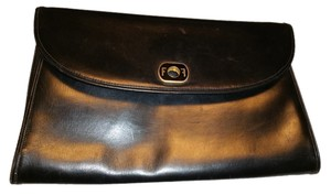 Salvatore Ferragamo Italian Made In Italy Black Clutch