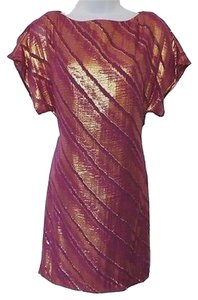 Trina Turk short dress Purple, Gold 0 Purple on Tradesy