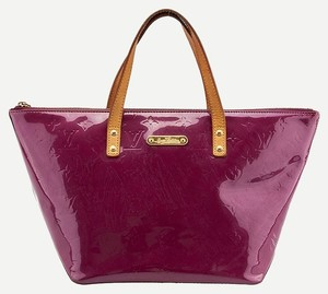 aa05af8a9870 Louis Vuitton Lv Bellevue Vernis Leather Monogram Patent Satchel Fashion  Luxury Tote in Purple