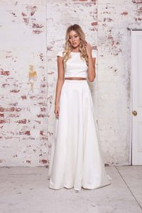 Mabel Crop Top And Skirt Wedding Dress
