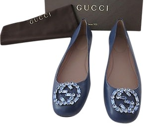 Gucci Swarovski Crystals Limited Edition Color Sold Only In Washed Indigo Flats