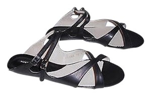 ALL BLACK All Buckle Straps Comfortable Black Sandals