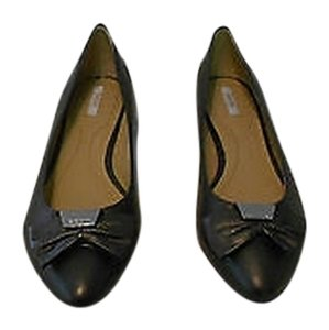 Geox Respira Leslie B Pearl Finish Leather 9m Black Flats