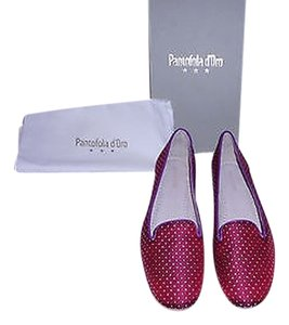 Other Pantofola D'oro Sheen To Textile Embroidered Pattern Red Flats