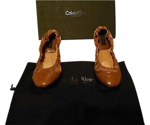 Calvin Klein Collection Versatile Color Made In Italy Brown Flats