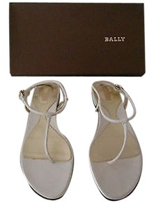 Bally Elaenia Rolled Leather Straps Pearl Sandals