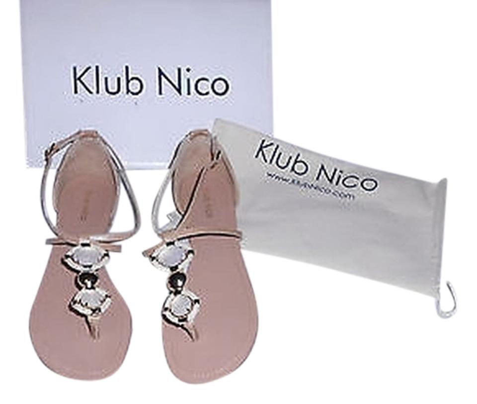 Natural Klub Nico Opaque Sandals Crystal/Woven Leather Accented Leather Sandals Opaque 32c28d